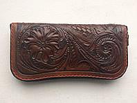 Кошелек Biker Wear Flow pouch коричневая кожа
