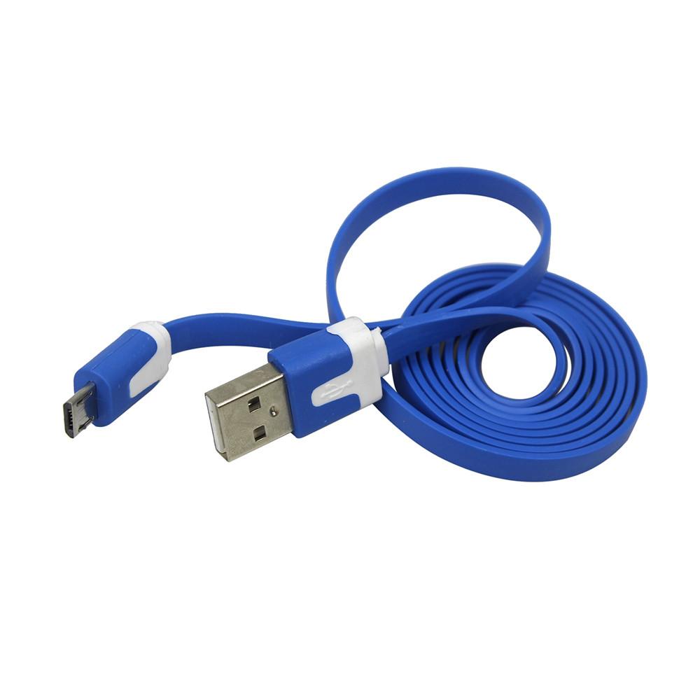 Кабель USB - micro usb 100 см плоский