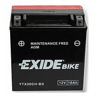Мото аккумулятор Exide ETX20CH-BS = YTX20CH-BS