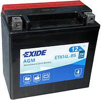Аккумулятор для мотоцикла Harley-Davidson Exide ETX14L-BS = YTX14L-BS
