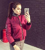 Женская короткая демисезонная куртка с довязами 78164