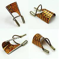 Форма для ногтей многоразовая золото