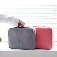 Органайзер для белья и косметики Liguo travel grey Код:122832