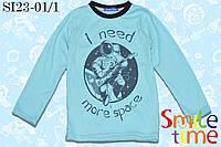 Реглан для мальчика трикотажный р.128,140 SmleTime Ineedmorespace, ментол