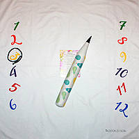Фотозона и карандаш ростомер для мальчика, расцветка груши, фото 1