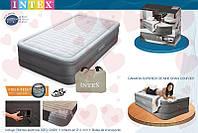 Надувная односпальная кровать Intex 64472 191х99х46 см со встроенным насосом 220В