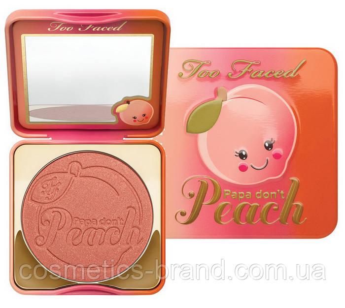 Рум'яна Too Faced Peach (репліка)