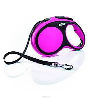 Поводок-рулетка Flexi NEW COMFORT (Флекси Нью Комфорт) Tape L лента 8 м для собак до 50 кг (цвет в ассортименте)