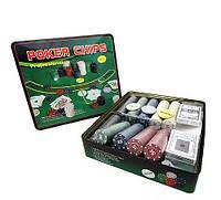 Покер набор без номинала/с номиналом на 500 фишек, покер Код:15869747