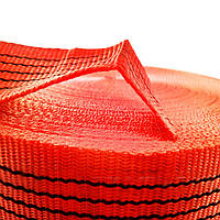 Лента буксировочная для стяжных ремней 50 мм х 50 м – Стрічка для стяжних, буксирувальних ременів, оранжева