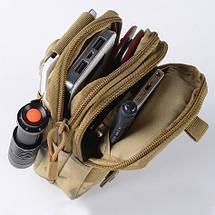 Мужская сумка на пояс для мелочей. Тканевая., фото 3