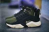 Зимние кроссовки Nike Huarache Winter ACRONYM Khaki. Живое фото (Реплика ААА+)