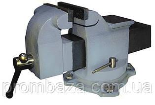 Тиски слесарные поворотные 100 мм с наковальней