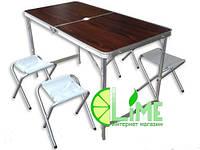 Раскладной стол, Folding, коричневый