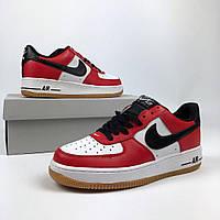 "Кроссовки Nike Air Force 1 ""red/white/black"". Живое фото (аир форсы, эир форсы)"