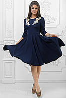 Женственное и романтичное платье А-силуэт с декоративными вставками