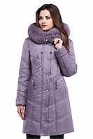 Стильное женское зимнее удлиненное пальто