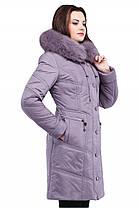 Стильное женское зимнее удлиненное пальто, фото 2