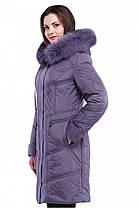 Стильное женское зимнее удлиненное пальто, фото 3