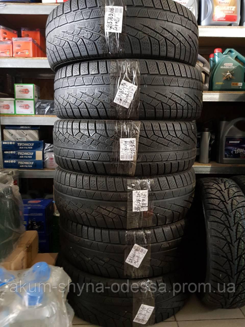 Шины зимние б/у 215/65 R16 Pirelli 2шт, 6мм протектор, успех