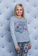Пижама с штанами меланж Мишка