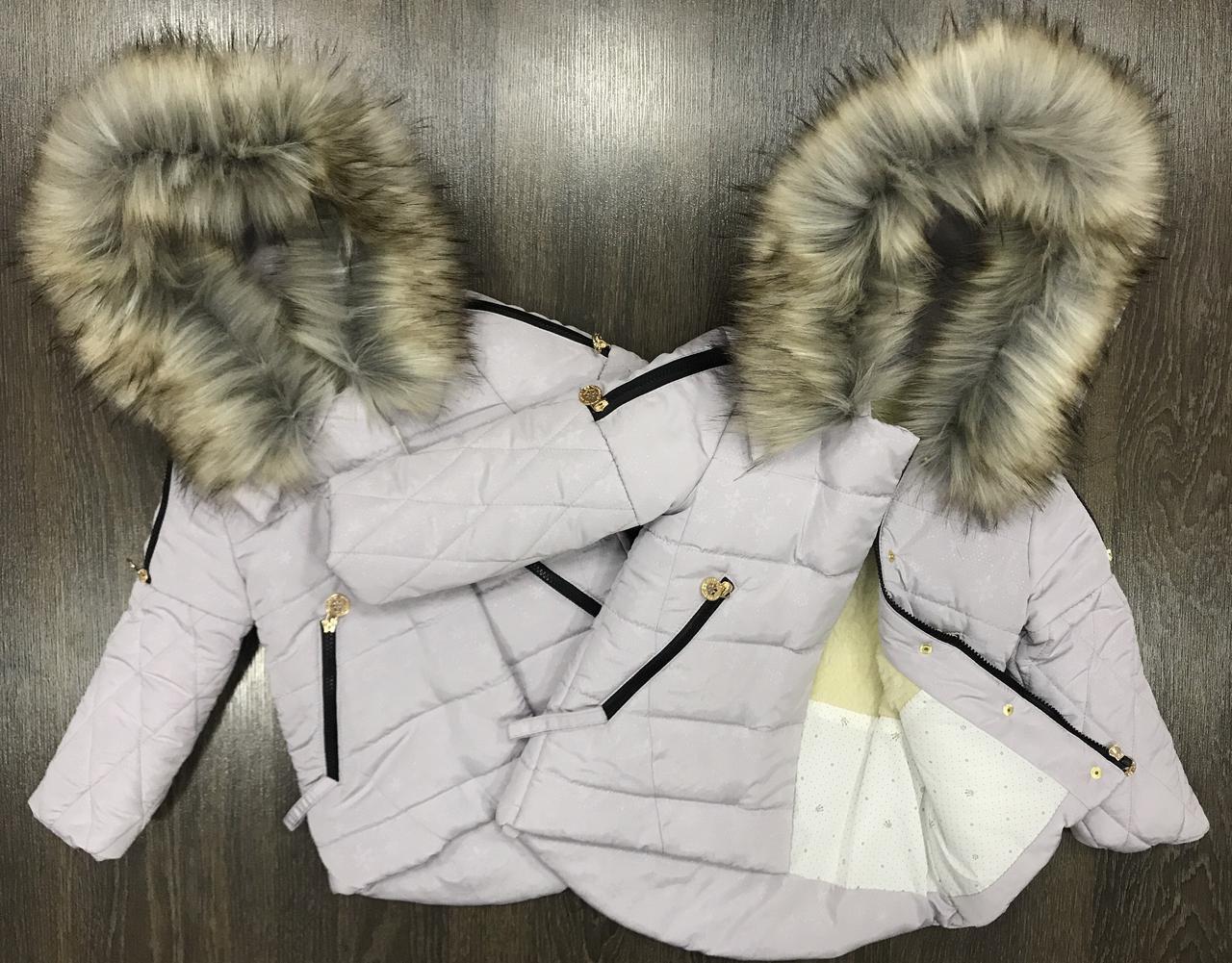 Зимняя курточка-парка на девочку