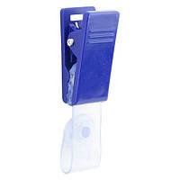 Кліп для бейджа Axent 4534-02-A, синій, фото 1