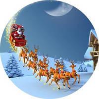 Дед Мороз и олени