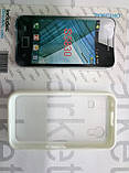 Case for Samsung S5830, пластик прозорий силікон білий, фото 2