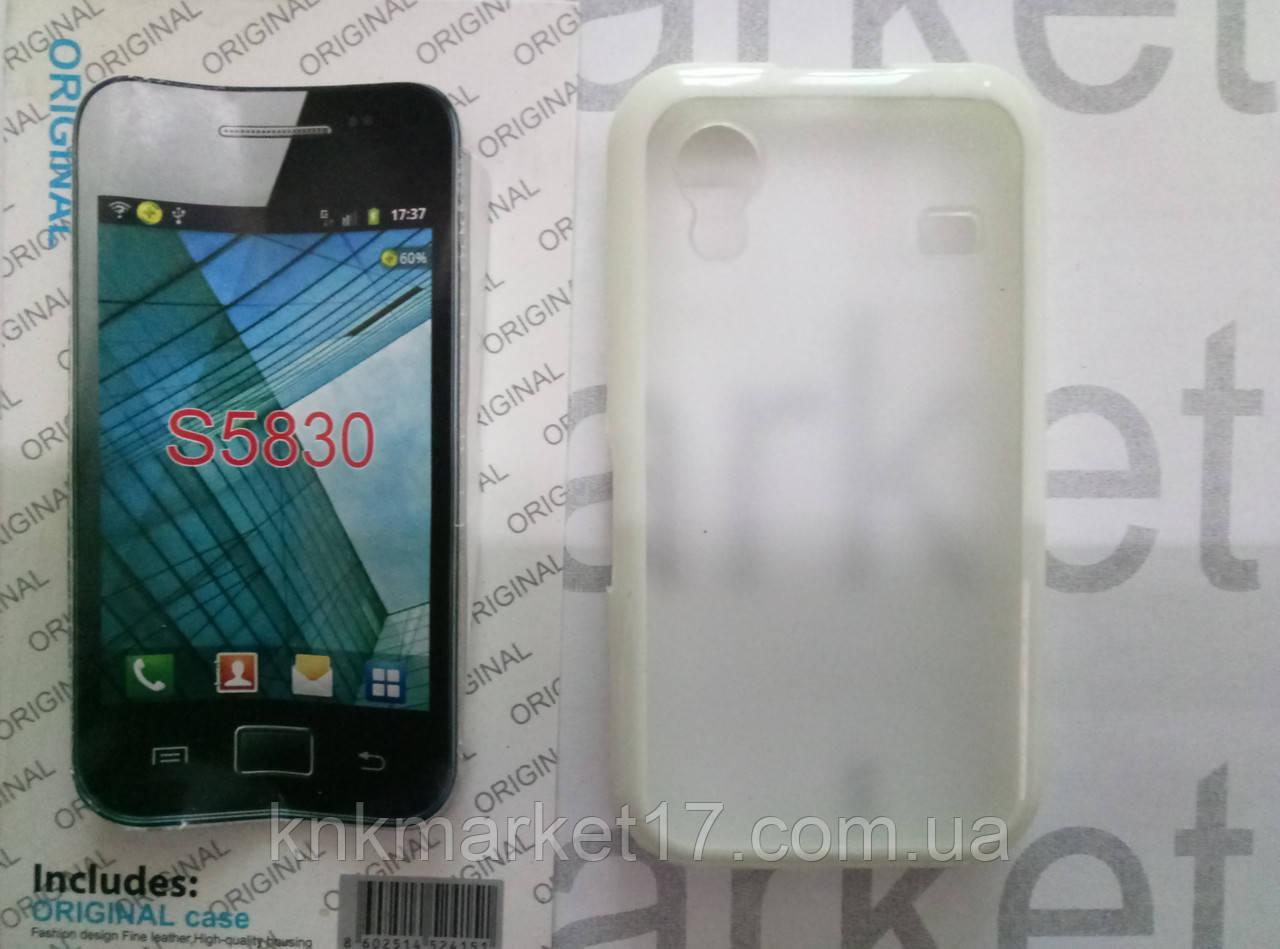 Case for Samsung S5830, пластик прозорий силікон білий