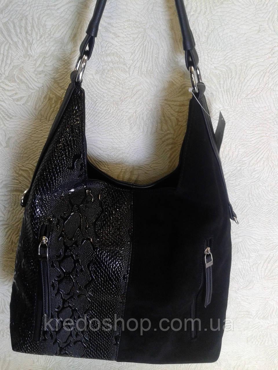 67d0a31af6ac Женская сумка замшевая черная красивая на плечо: продажа, цена в ...