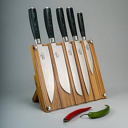 """Набор ножей дамасская сталь """"Micarta"""" 5 ед"""
