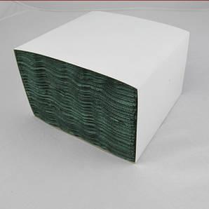 Салфетка бумажная 3-х слойная в картонном боксе 33х33 см., 100 шт/уп зеленая