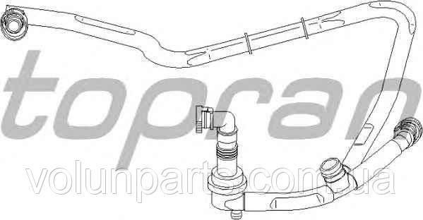 Шланг, вентиляция картера Audi A4B5/A6C5 2.4-2.8 Passat B5 2.8л  078103224R (Topran 111303)