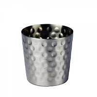 Емкость рельефная нержавеющая сталь для картошки фри 8 см.