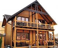 Наружная отделка дома имитацией бруса, фото 1