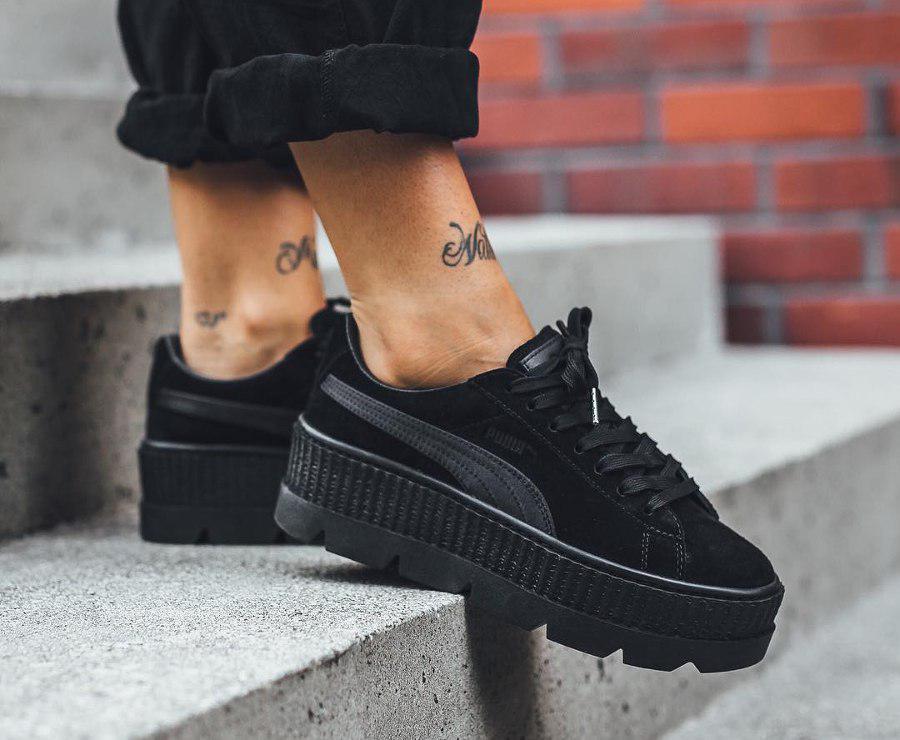 sports shoes 39dfc eaf4a Кроссовки Puma x Fenty Cleated Creeper Platform black. Живое фото (Реплика  ААА+)