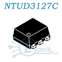 NTUD3127C, (5S), Mosfet транзистор P+N канал, 20В 180мА/200мА, SOT963