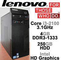 Lenovo M71e - Intel Core i3-2100 3.1GHz /4GB DDR3-1333 /250GB HDD