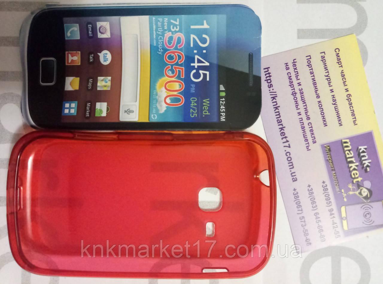 Case for Samsung S6500, силікон, червоний