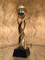 Статуэтка Земной шар на волне золото