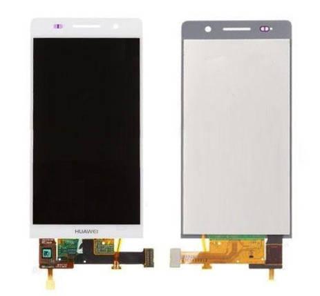Дисплей (экран) для Huawei P6 P6-U06 Ascend с сенсором (тачскрином) белый, фото 2