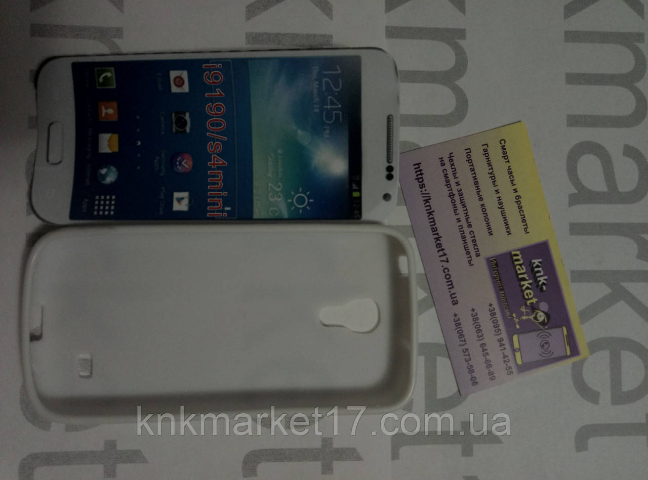 Case for Samsung i9190/s4mini, білий, силікон