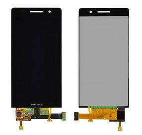Дисплей (экран) для Huawei P6 P6-U06 Ascend з сенсором (тачскріном) черный Оригинал