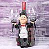 Подставка под бутылку и два бокала Повар