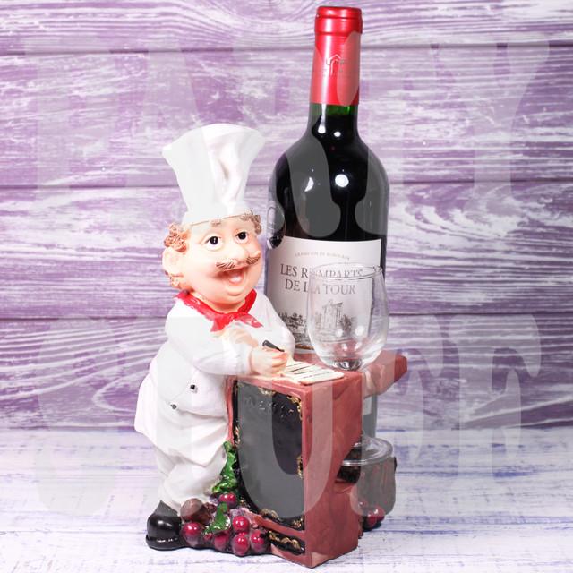 подставка под бутылку и бокал повар