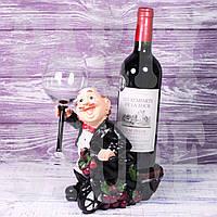 Подставка для бокала и бутылки Повар