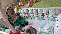 Комплект Постелька в детскую кроватку, бортики Игрушки и бонбон бортики., фото 1