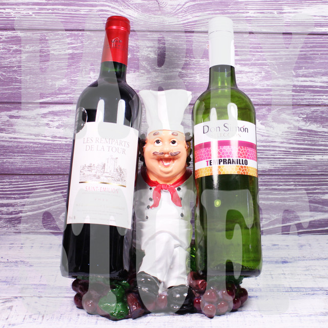 Подставка под две бутылки Повар