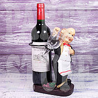 Подставка для бутылки и бокала Повар